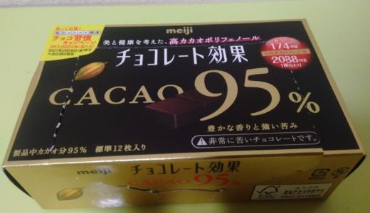 ロカボ食品『チョコレート効果CACAO95%』を食べると血糖値はどれくらいあがるか?実験してみた!